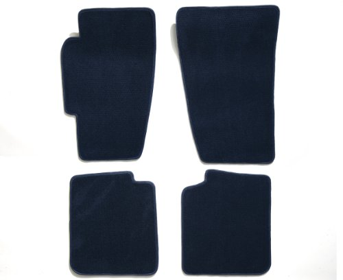 Premier Custom Fit 4-piece Set Carpet Floor Mats for Toyota Supra (Premium Nylon, Navy Blue)