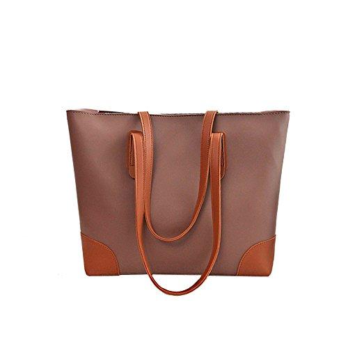 Anne de la mujer Tote Bolsas Casual Gran Capacidad del bolso Lady bolsos grandes bolsas de las mujeres D Flesh color