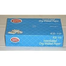 Handy Wacks EZ10C, 10x10-3/4-Inch Interfolded Medium Grade Dry Waxed Paper, Waxed Wrap Deli Paper Sheets (1)