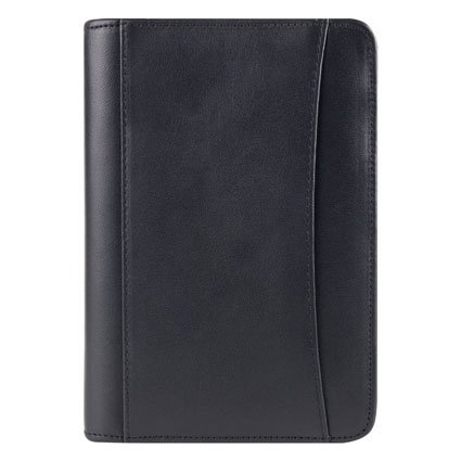 Pocket FC Basics Nappa Leather Zipper Binder - Black (Franklin Covey Black Pocket)
