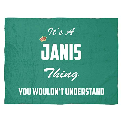 baken It's A Janis Thing, You Wouldn't Understand Large Fleece Blanket (80