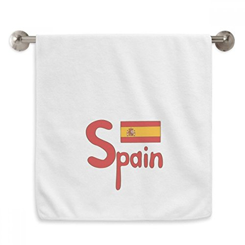 DIYthinker Spain National Flag Red Pattern Circlet White Towels Soft Towel Washcloth 13x29 Inch by DIYthinker
