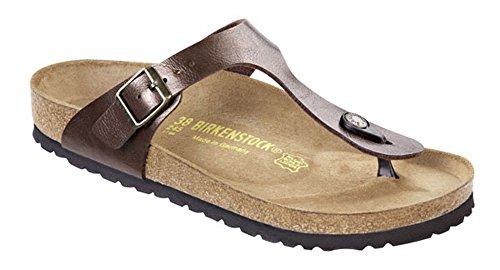 Birkenstock Women's 845221 Style Gizeh Sandal, Toffee Birko-flor, 38 ()