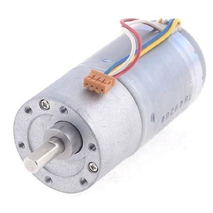 DealMux 24VDC 120rpm 6 milímetros Diâmetro do eixo redutor de velocidade motor engrenado Magnetic - - Amazon.com