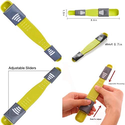 Adjustable Measuring Spoons Metering Spoon for Baking,Cooking,Coffee,Sugar,Salt,Powder Eight Stalls Measuring Spoon