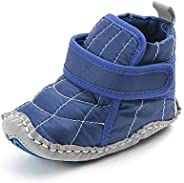 Kuner Infant Baby Boys Canvas High-top Non-Slip Warm Sneakers Snow Boots First Walkers Shoes