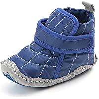Infant Baby Boys Canvas High-top Non-Slip Warm Sneakers Snow Boots First Walkers Shoes