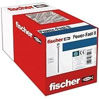 fischer 50 x spaanplaatschroef Power-Fast II 4,0x70, verzonken kop met kruiskop gedeeltelijk schroefdraad galvanisch…