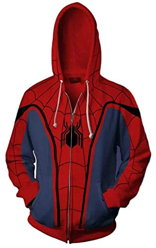 Koveinc Superhero Halloween Cosplay Costume Mens Hoodie -