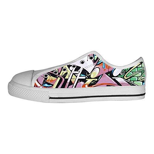 Custom Graffiti Womens Canvas shoes I lacci delle scarpe scarpe scarpe da ginnastica Alto tetto