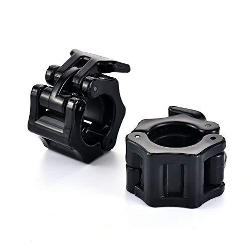 superbobi 25mm/1 inches Black Olympic Lock Barbell Clamp Collar Cross Trainning Weight Bar Locking