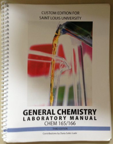 General Chemistry Laboratory Manual CHEM 165/166, 3rd Edition (Saint Louis University)