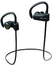 VULKKANO Active - Auriculares inalámbricos Deportivos. para Hacer Deporte, Running y Gimnasio. Resistentes al Sudor y Agua (IPX4, Batería 6 Horas, Bluetooth, micrófono).