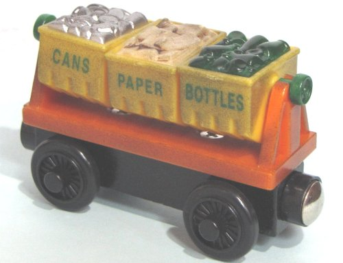 RECYCLING CAR THOMAS & FRIENDS WOODEN TRAIN LOOSE ITEM NEW (Thomas The Train Wooden Murdoch)