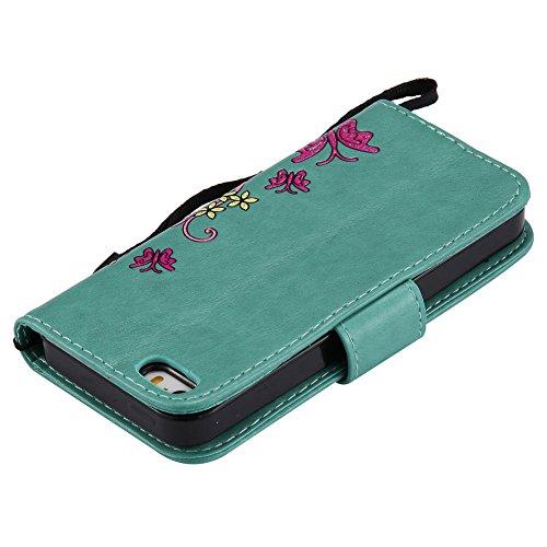 gris 5s Estuche de magn Aeeque Iphone cuero de corchete BYYPxgEq