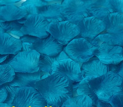 2000pcs Fashion Atificial Polyester Flowers for Romantic Wedding Decorations Silk Rose Petals confetti Color Peacock blue ()