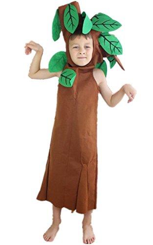 Petitebella Halloween Xmas Fruit Vegetables Unisex Costume Party Dress Clothing (11-14years Tree)