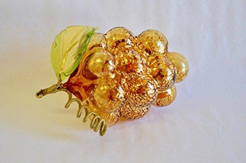 Murano Hand Blown Glass Grapes - Glass Blown Amber