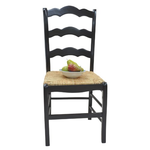 (Carolina Chair and Table Ava Ladder Back Chair, Antique Black)