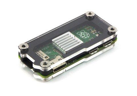 Zebra Zero Heatsink Case in Black Ice for Raspberry Pi Zero 1.3 and Wireless by C4Labs -