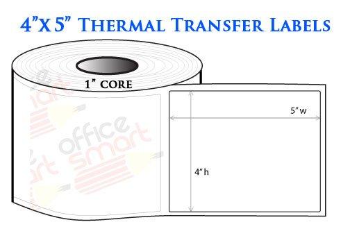 4x5 Thermal Heat Tranfer Labels for Zebra GC420t GK420t GX420t TLP2442 TLP2844 Wax Resin Ribbon Barcode Printer - 1 - Wax Barcode Printers