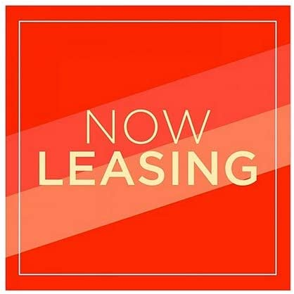 Now Leasing 12x12 CGSignLab Modern Diagonal Window Cling 5-Pack