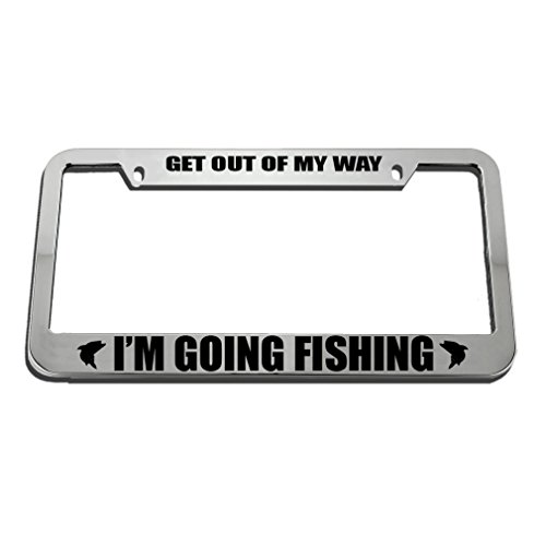 Speedy Pros Get Out of Fish Fishing License Plate Frame Tag Holder