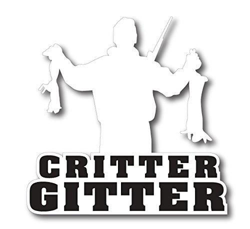 BOLDERGRAPHX 6176 CRITTER GETTER HUNTING DECAL WITH A RABBIT AND A SQUIRREL