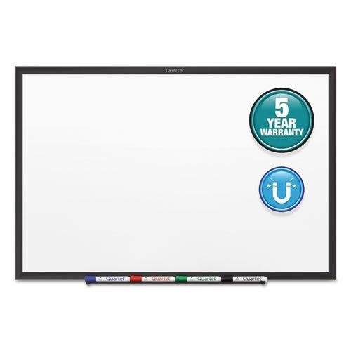 Quartet Dry Erase Board, Whiteboard / White Board, Magnetic, 6' x 4', Black Aluminum Frame (SM537B)