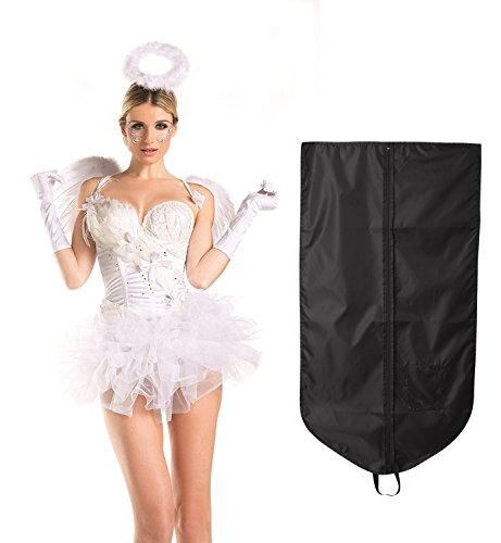 White Swan Costumes (Be Wicked Women's White Swan Angel Costume with Wings, Gloves and Halo, S/M)