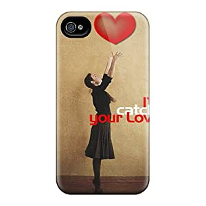 Tpu Case Cover Compatible For Iphone 4/4s/ Hot Case/ Catch Your Love
