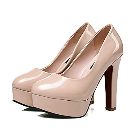927f99b1b7 GAOLIM The High-Heel Shoes Waterproof Taiwan Light-Single Shoes Single Shoes  Women Shoes At Very High And Very Rough With Women Shoes Candy Color Round  Head ...