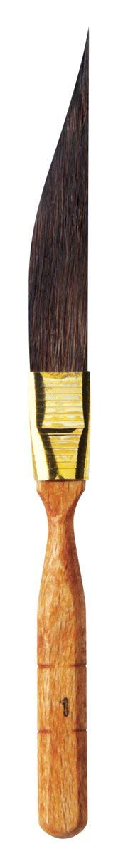 da Vinci Graphic Design Series 700 Pinstriping Brush, Tapered Sword-Shaped Kazan Squirrel Hair with Cedar Imitation Handle, Size 1 by da Vinci Brushes