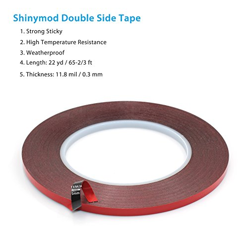 Atemto Special Acrylic Adhesive Sticker Double Sided Foam Tape Industrial Strength Shockproof Weatherproof Dustproof Seal Mounting Tape 0.3mm x 13/64 inch x 65-2/3ft (Drawer Seal)