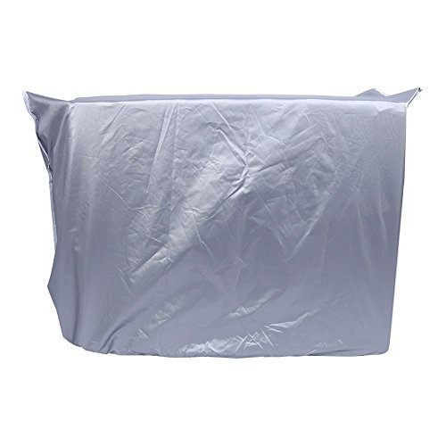 Yosoo Air Conditioner Cover, Anti-Dust Anti-Snow Conditioner Protector for Outdoor Use, Rectangle, Silver (Size: 31×11×21inch/2.62×0.92×1.77ft) by Yosoo (Image #1)