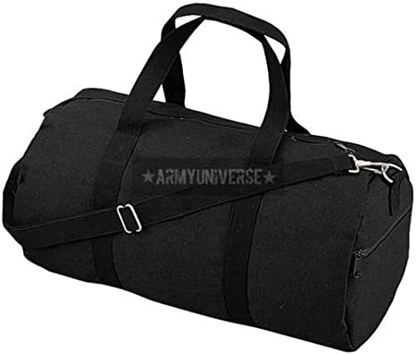 Amazon.com  Canvas Sports Gym Duffle Carry Shoulder Bag   Strap - 19 ... 2efb4f5283c