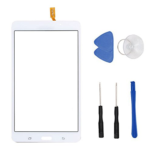 White Touch Screen Panel Digitizer Glass For Samsung Galaxy Tab 4 SM-T230 T230NU 7'' inch With (Adhesive) and Tool by first choose (Image #1)