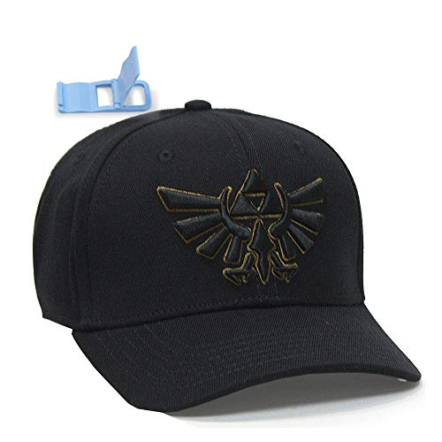 Nintendo Game Zelda Logo Black Flex Baseball Cap
