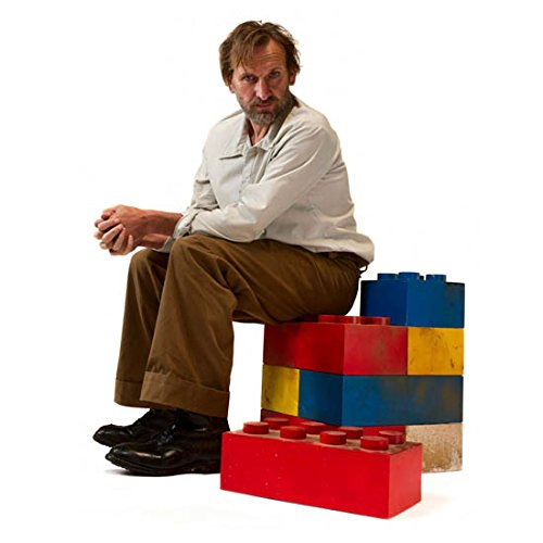 Christopher Eccleston 8x10 Photo Doctor Who The Others Thor Sitting on Giant Legos kn