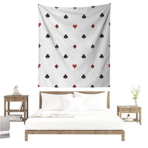 WilliamsDecor Hall Tapestry Casino Gambling Club Lifestyle Fortune Luck Advertise Minimalistic Design Artwork 54W x 72L INCH Suitable for Bedroom Living Room Dormitory