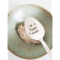 Je T'aime Maman Hand Stamped Spoon Gift For Mother Engraved Teaspoon French Saying