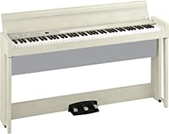 88-key Digital Home Piano with 30 Sounds, RH3 Keyboard, Split/Layer Functionality, Bluetooth Audio Receiver, and Built-in Speakers - White Ash