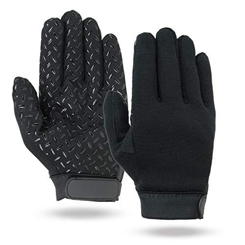 Illinois Glove Company 81XLB Super Grip Mechanics Gloves, XL, Black ()