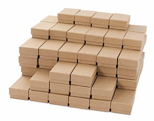 Kraft Cotton Filled Jewelry Box #21 (Case of 100) by JewelrySupply