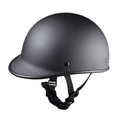 (Size S Motorcycle Biker Cruiser Moped Novelty Matte black Polo Half Helmet Low Profile Touring)