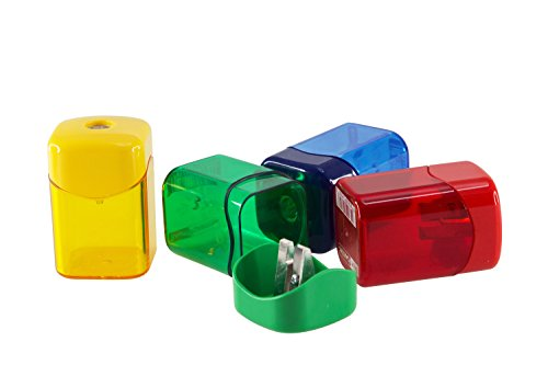 Baumgartens Wave Pencil Sharpener Single Hole ASSORTED Colors (Single Hole Sharpener)