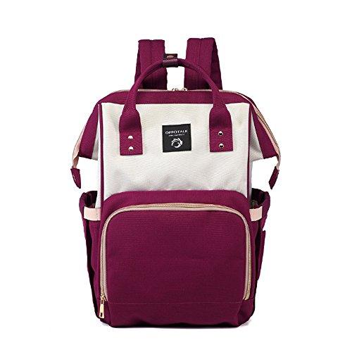 Bolso coreano de la momia de la manera, bolso de hombro, bolso de múltiples funciones de la madre de gran capacidad, vaya el morral, bolso del bebé de la madre ( Color : Pink ) Purple