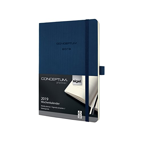 Price comparison product image Sigel C1932 A5 Softcover Conceptum 2019 Weekly Planner - Dark Blue