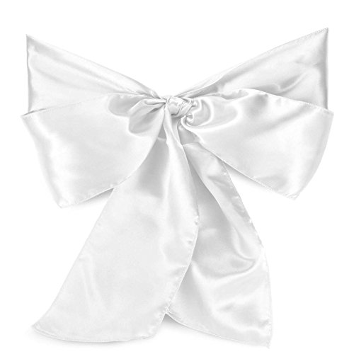 Lann's Linens 10 Elegant Satin Wedding/Party Chair Cover Sashes/Bows - Ribbon Tie Back Sash - - Bow Border