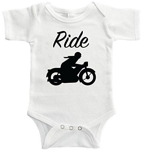Starlight Baby Ride Motorcyclist Bodysuit (6-12 Months, White) ()
